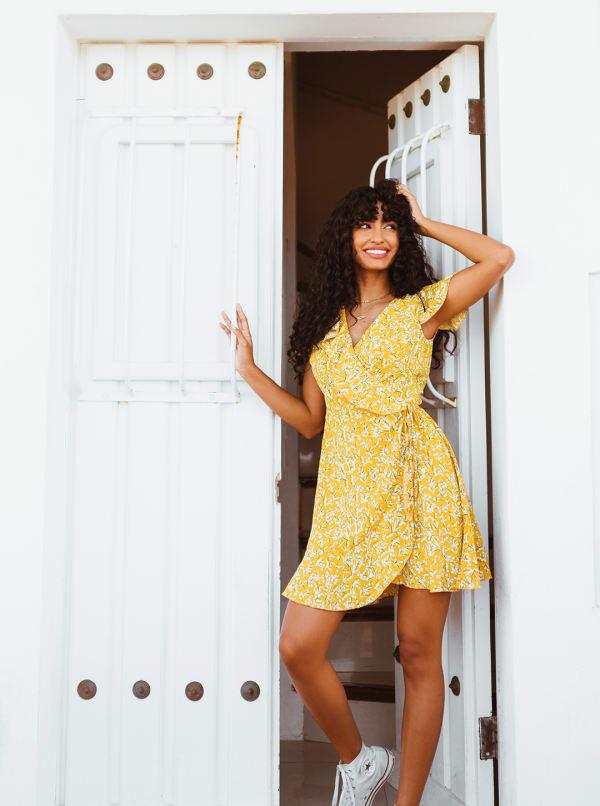 Sukiso Women's Yellow Soleil Dress