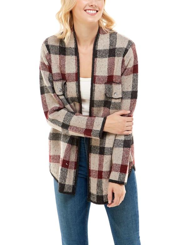 Adrienne Vittadini Sweater With Pocket Welts Shacket