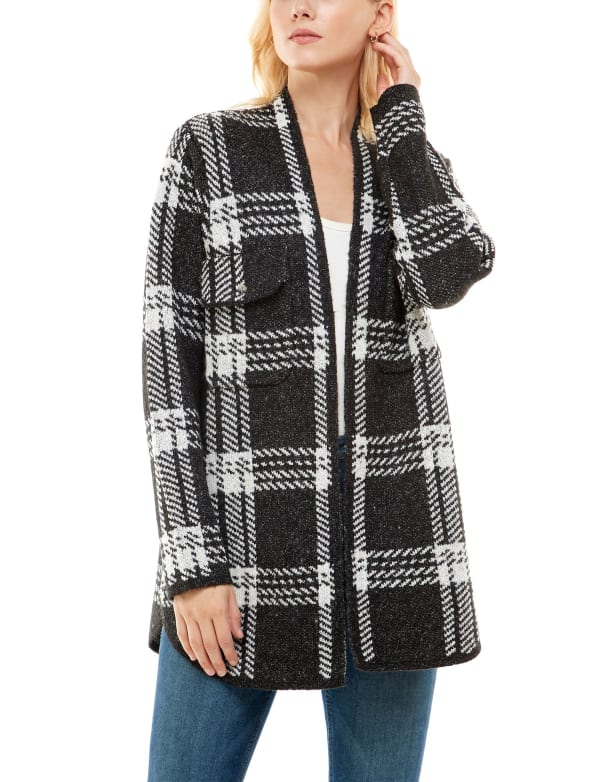 Adrienne Vittadini Sweater With Chest Pockets Shacket