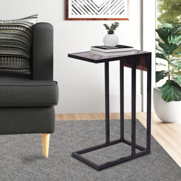 Wood Top and Metal Frame Tech C-Table