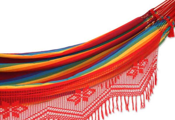 Icarai Rainbow Cotton Double Hammock