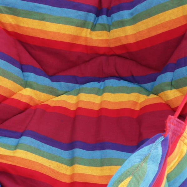 Jungle Rainbow Cotton Hammock Swing