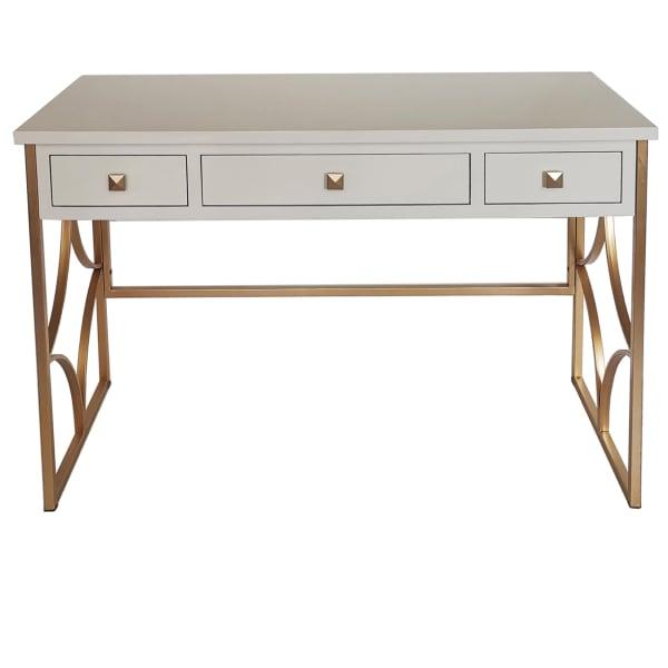 Daphne White and Gold Desk