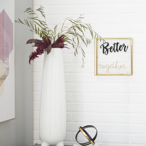 Gold Metal Contemporary Decorative Signs