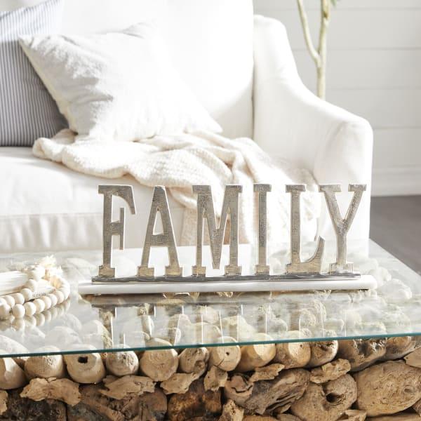 Silver Aluminum Traditional Decorative Sign