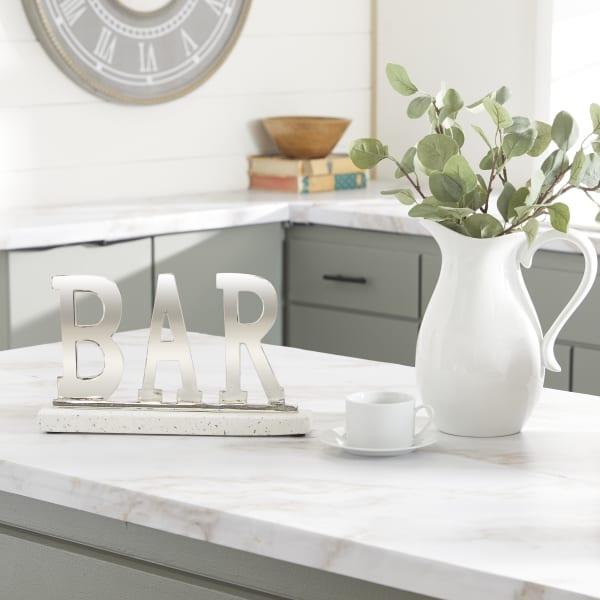 Silver Terrazzo Modern Decorative Sign