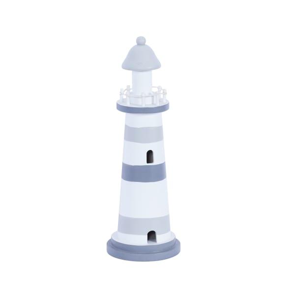 Grey wood Coastal Lighthouse Sculpture