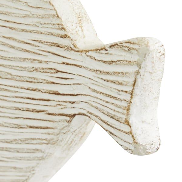 White Ceramic Coastal Fish Set of 2 Sculptures