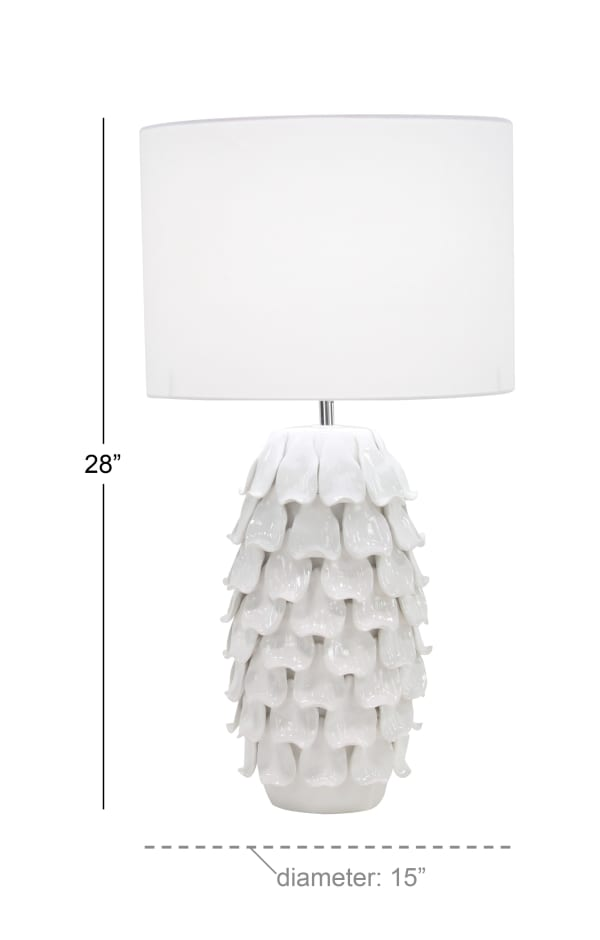 White Ceramic French Country Table Lamp