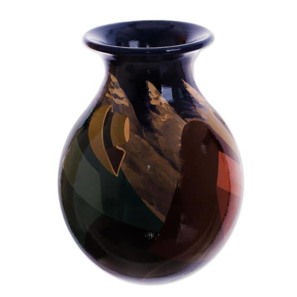 Novica The Rest Ceramic Vase