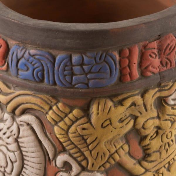 Novica Maya King Of Tikal Ceramic Vase