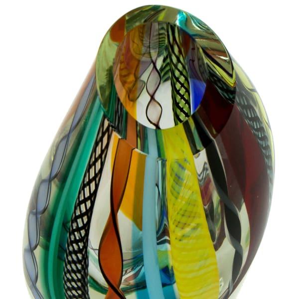 Novica Carnival Color Fantasy Handblown Art Glass Vase