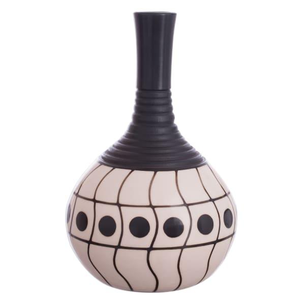 Novica Chulucanas Waves Ceramic Decorative Vase