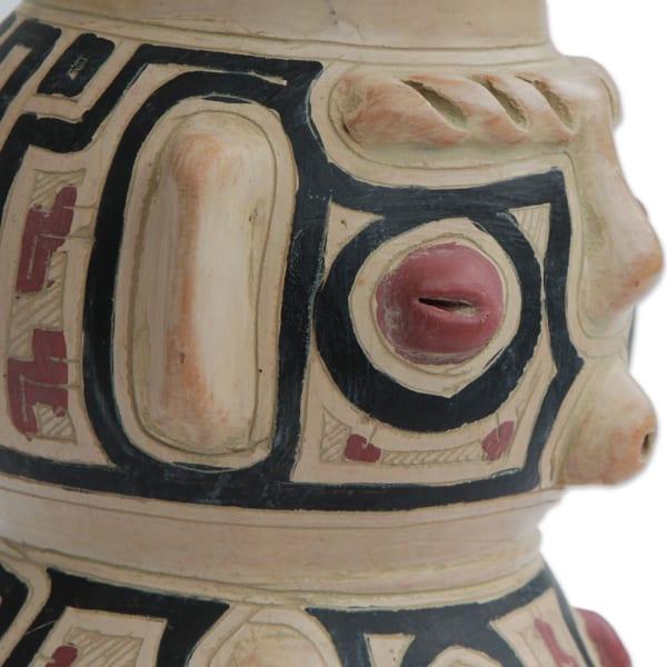 Novica Native Marajoara Ceramic Decorative Vase