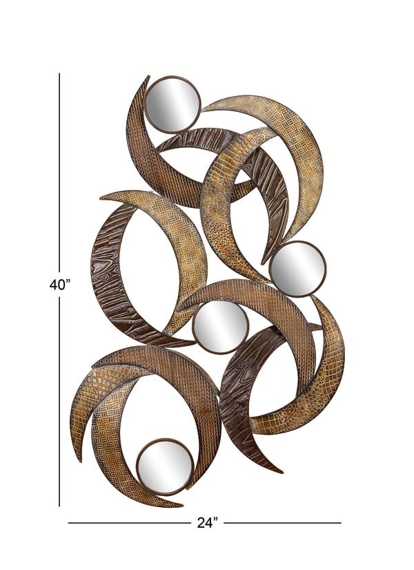 Contemporary Ornamental  Beige Metal Wall Decor