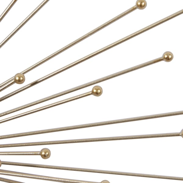 Modern Gold Metal Set of 3  Wall Decors