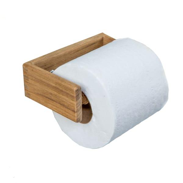 Teak  Solid Toilet Tissue Holder