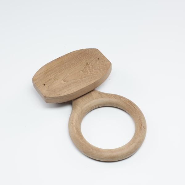 Teak Solid Towel Ring