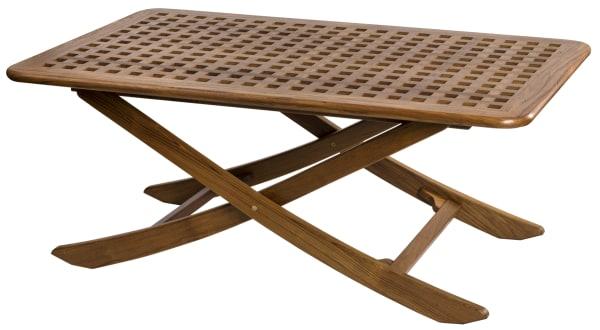 Teak Rectangular Grate Top Folding Table