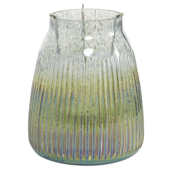 Multi Colored Glass Candlestick Holders
