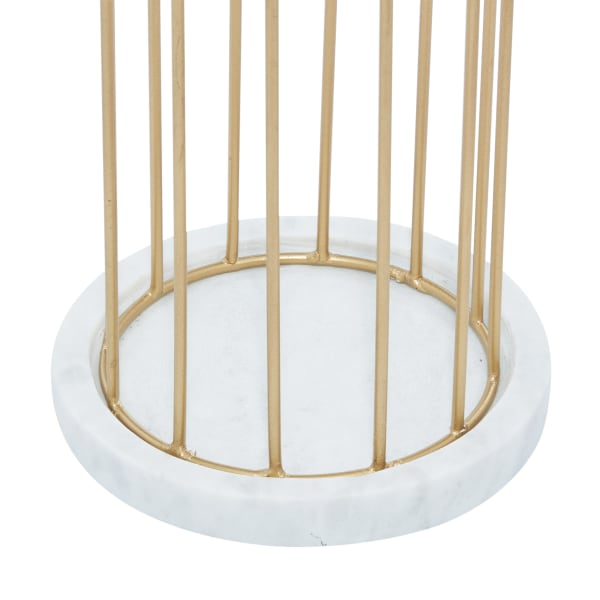 Gold Marble Contemporary Set of 2 Candle Holders