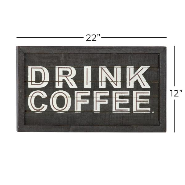 Farmhouse Brown Coffee Bar Wood Wall Decor