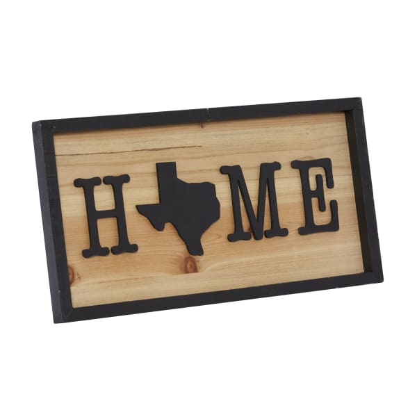 Traditional Light Brown Wood Sign Wall Decor