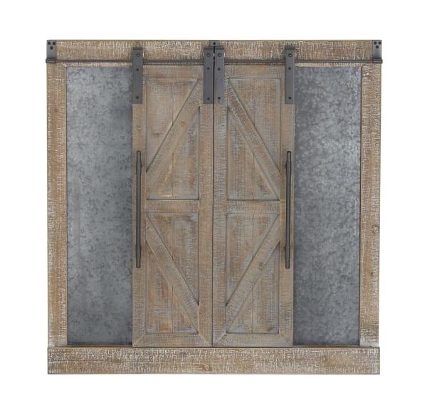 Farmhouse Abstract  Brown Wood Wall Decor