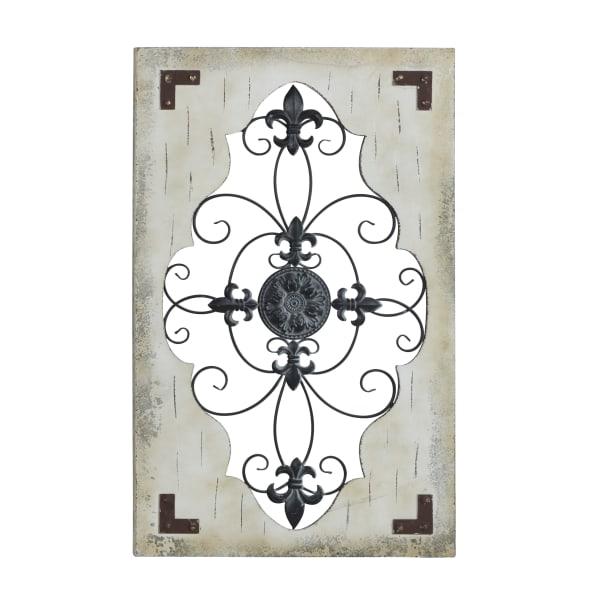 Rustic Ornamental Cream Wood Wall Decor