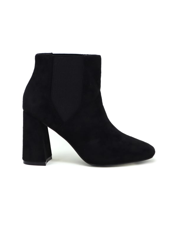 Suede Elastic Stretchy Ankle Booties
