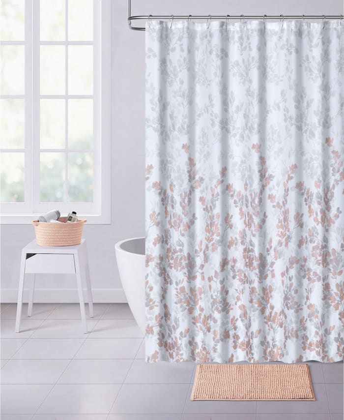 Spring Printed Waffle Shower Curtain