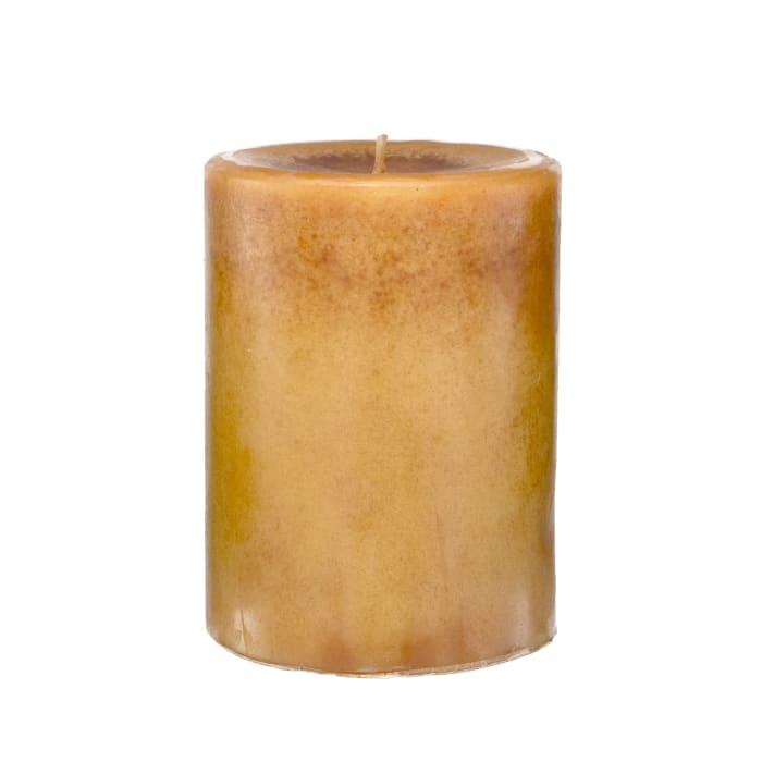 Pier 1 Apple Cider 3x4 Mottled Pillar Candle