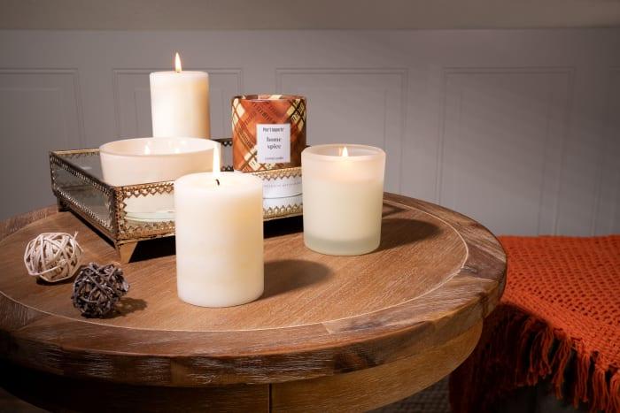 Pier 1 Home Spice 3x4 Mottled Pillar Candle