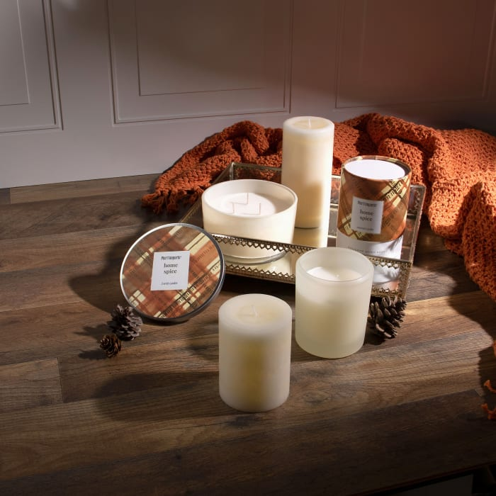 Pier 1 Home Spice Filled 3-Wick Candle 14oz