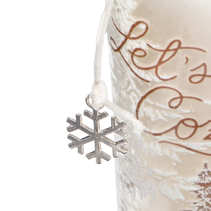 Pier 1 Snow Day Filled Charm Jar Candle 6oz