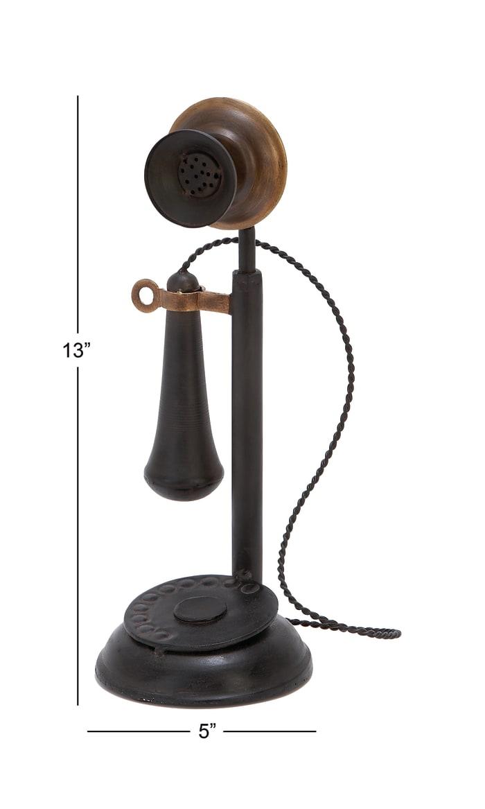 Black Iron Vintage Antique Phone