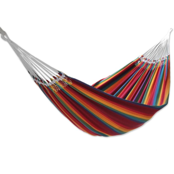 Brazilian Rainbow Cotton Double Hammock
