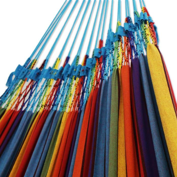 Artisanal Rainbow Cotton Hammock