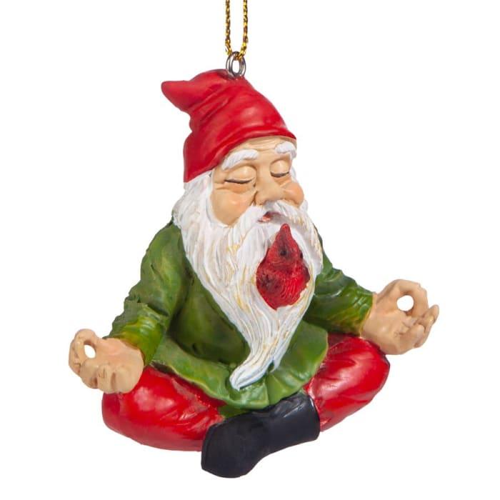 Zen Gnome Holiday Ornament