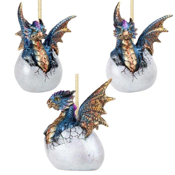 Hard Boiled Dragon Hatchling Holiday Ornament
