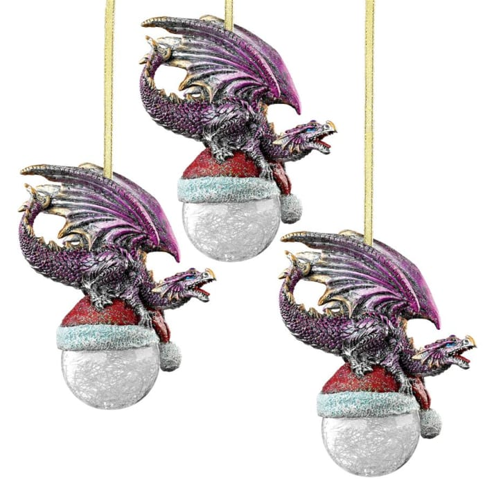 North Pole Dragon Ornament