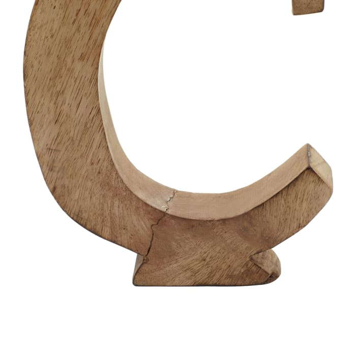 Brown Mango Wood Set of 6 Decorative Signs