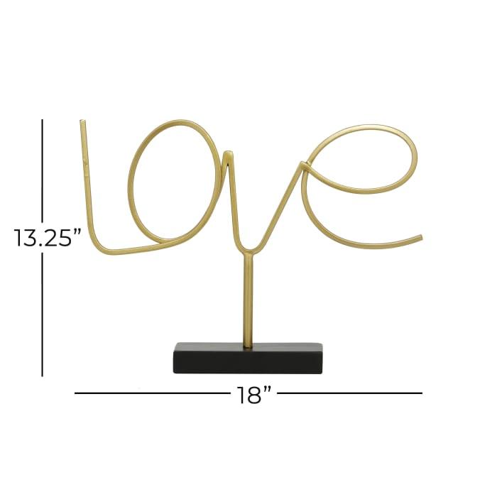 Gold Metal Contemporary Decorative Sign