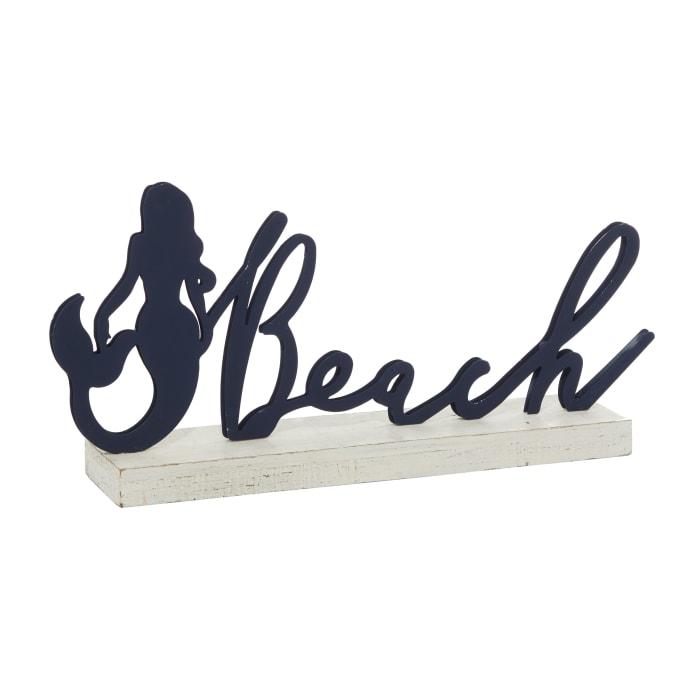 Black Wood Coastal Decorative Signs