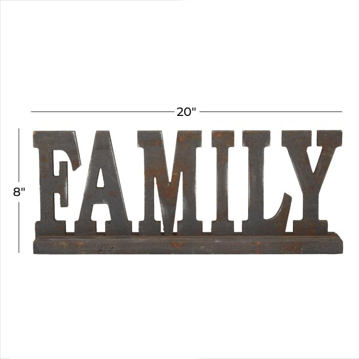 Antique Black Wood Industrial Decorative Sign