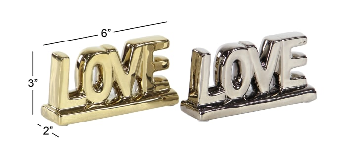 Porcelain Glam Set of 2 Decorative Signs