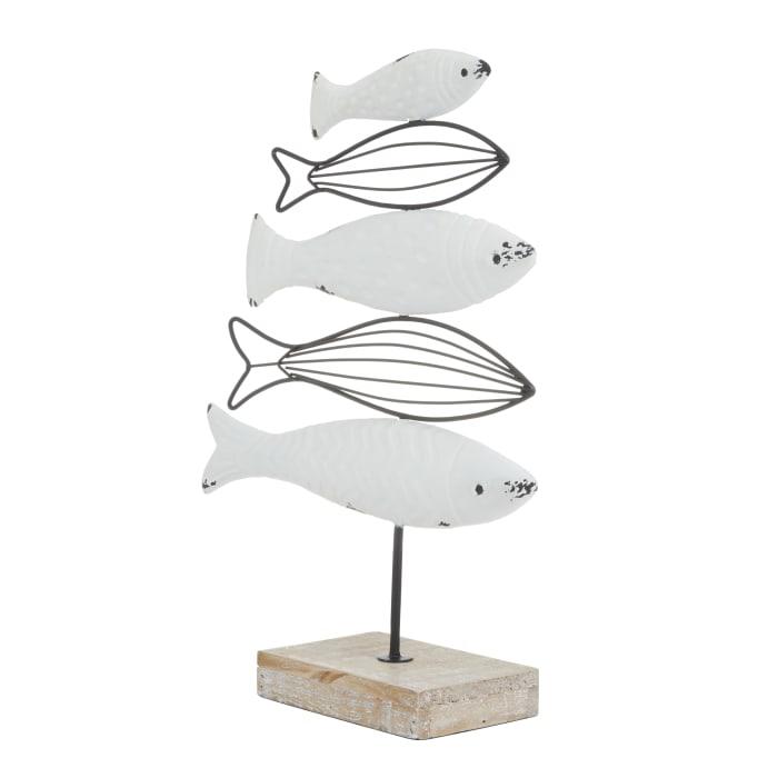 White Coastal Sculpture
