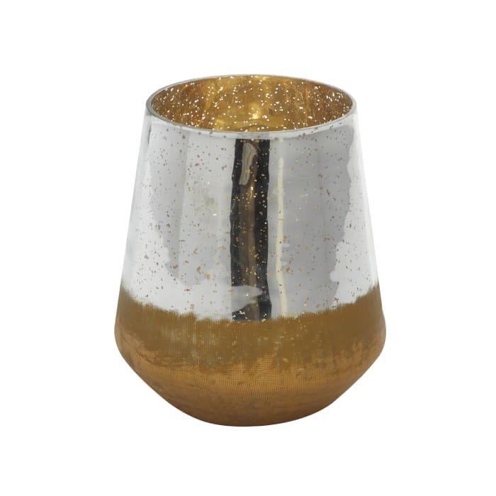 Modern Gold Glass Candlestick Holder