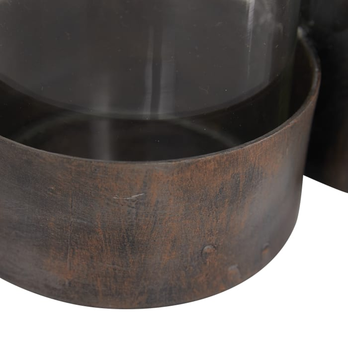 Modern Black Iron Candlestick Holders