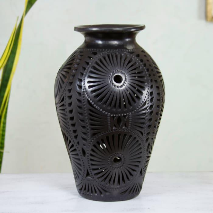 Novica Floral Fiesta Decorative Ceramic Vase